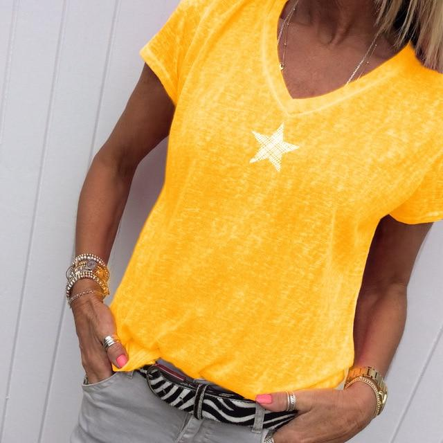 Plus Size Hot Pink t Shirt - yellow color