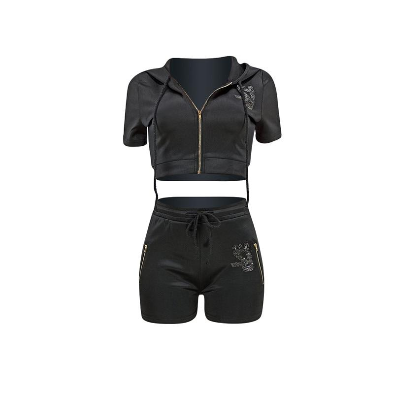 Matching Shorts and Top Set - black positive