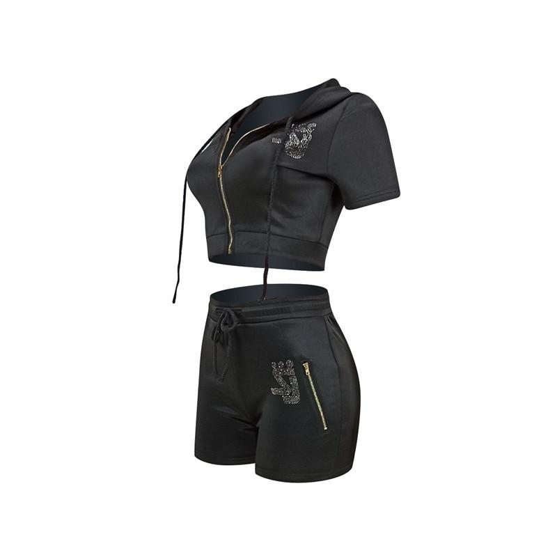Matching Shorts and Top Set - black left