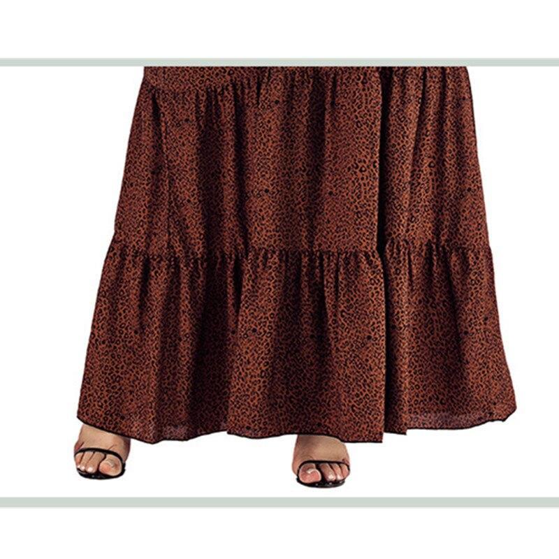 Plus Size Satin Dress- brown detail image