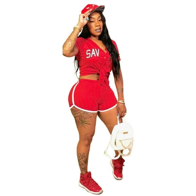Plus Size Summer 2 Piece Sets Womens - red color