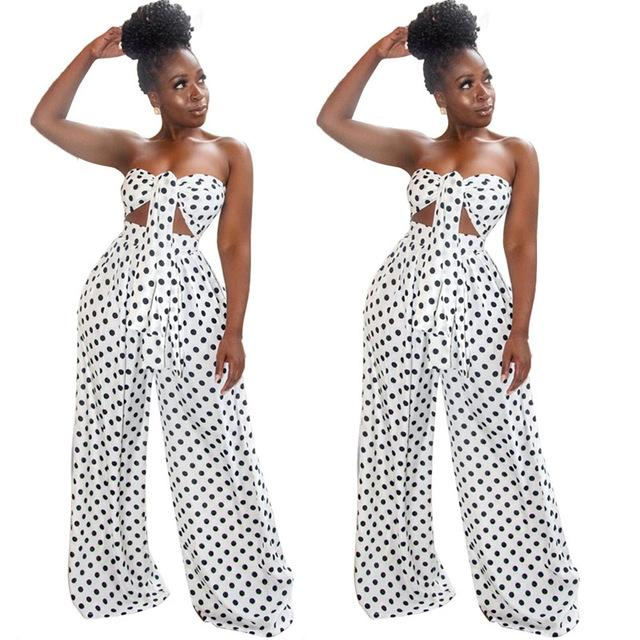 Two Piece Flare Pants Set - white color