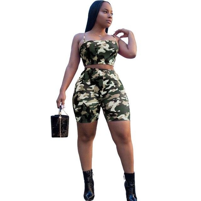 Two-piece Camouflage Set - green color