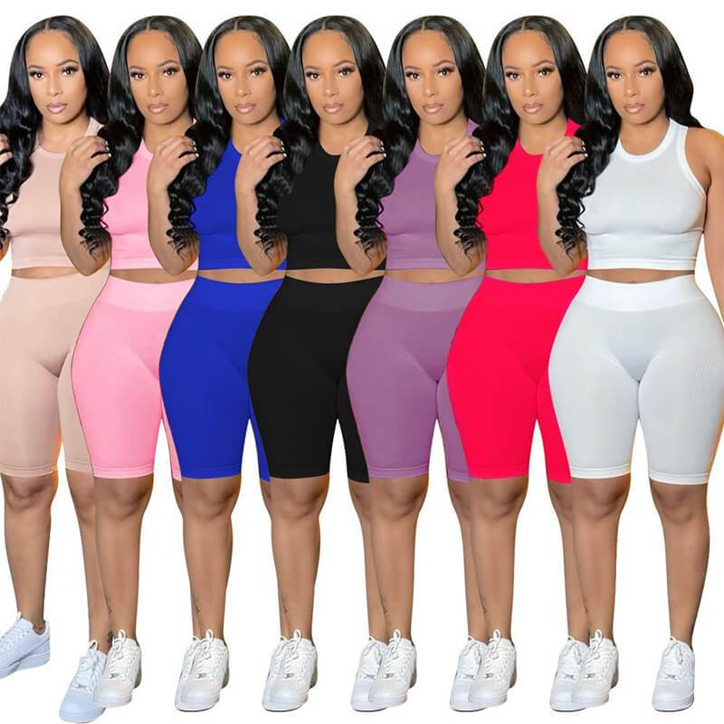 Ribbed Two Piece Set-model view