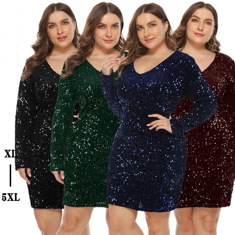 plus size sequin party dress- main picture