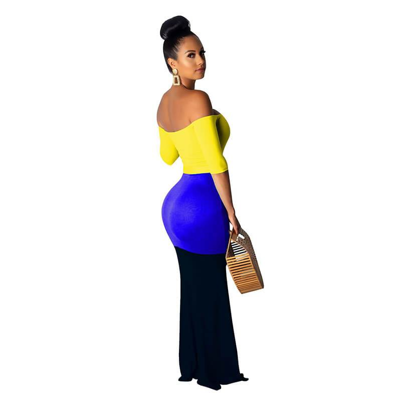 Long Maxi Dresses - Yellow Color Right Side view