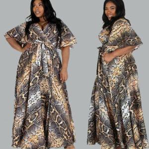 Snake Print Dress Plus Size