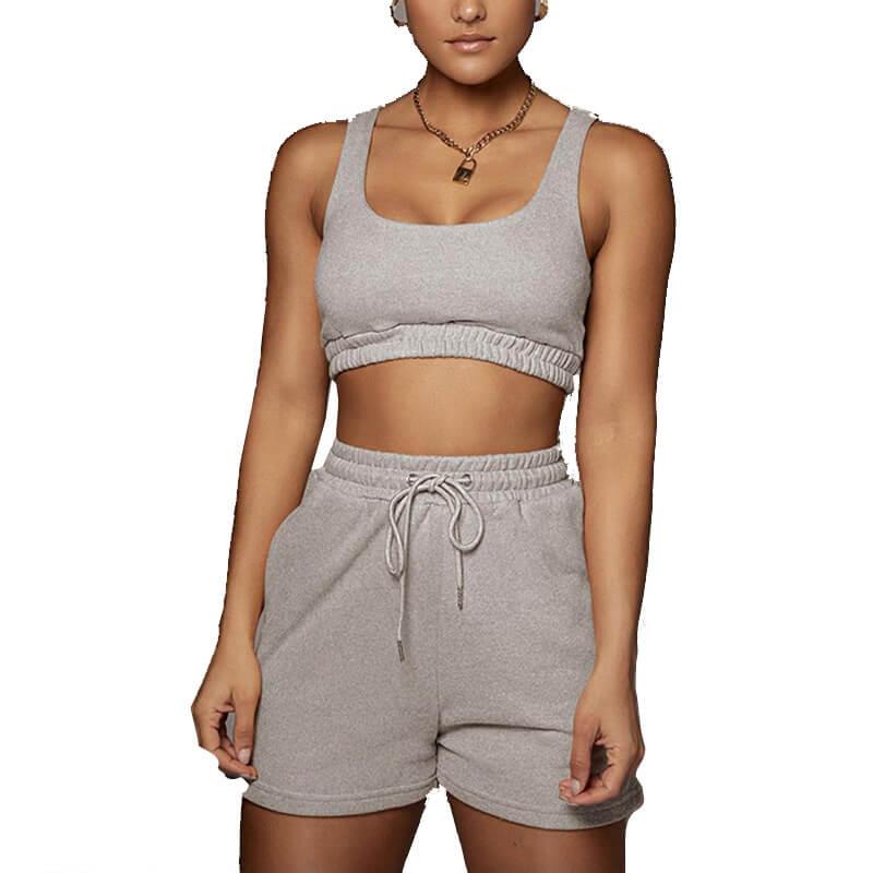 matching sweatshirt and shorts set-gary