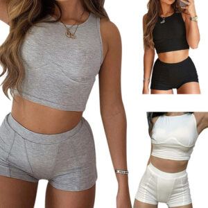 ribbed 2 piece set-model view