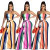 strapless maxi dress-model view