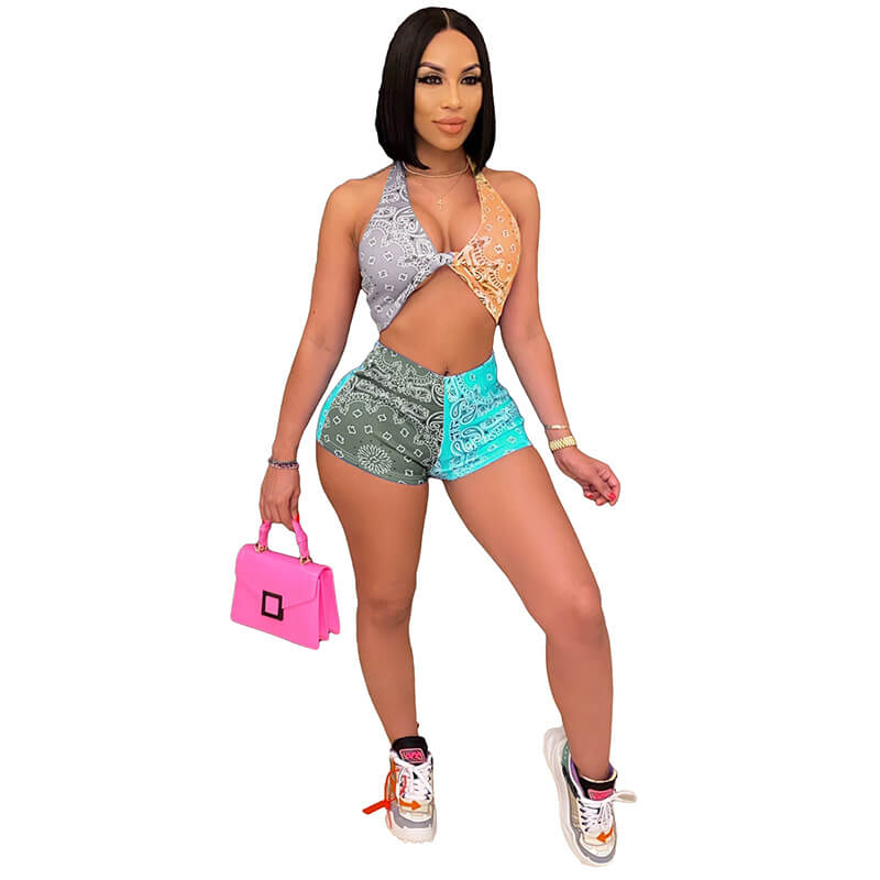 trendy two piece sets-gary yellow