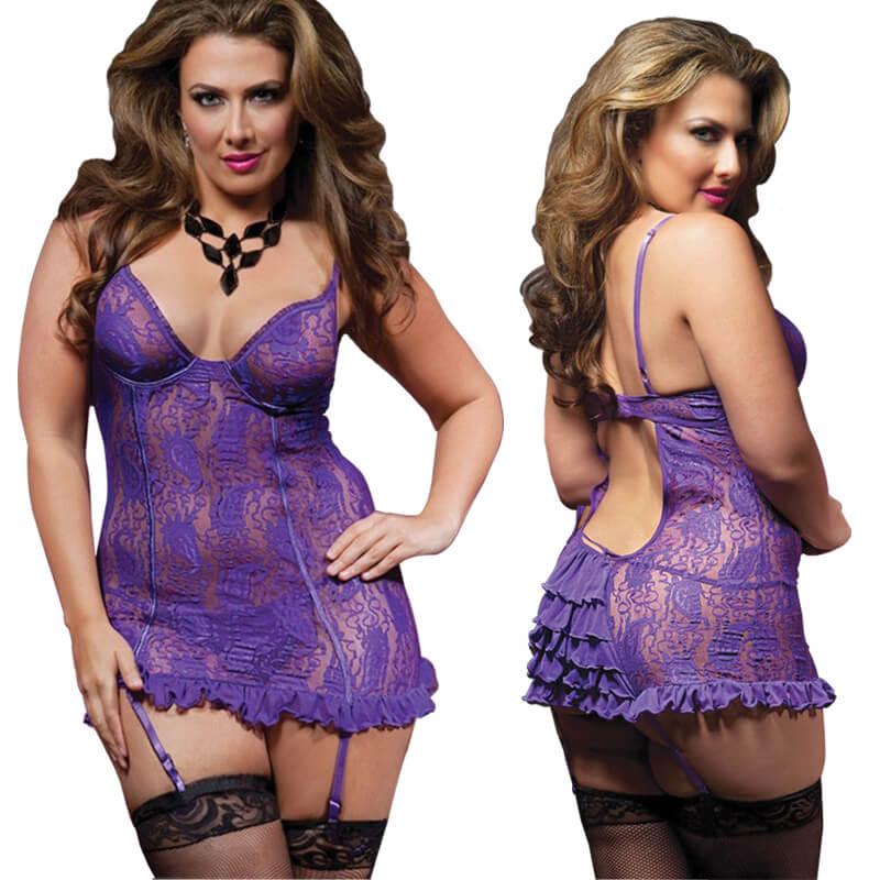 Purple Body Stocking – plus size