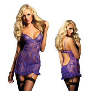 Purple Body Stocking